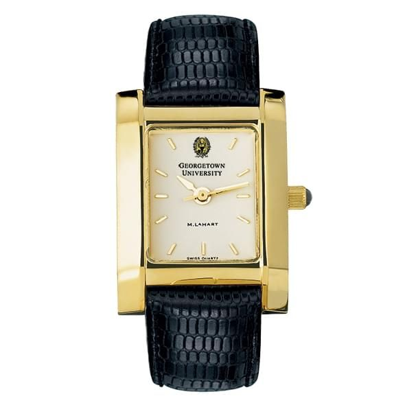Georgetown Women's Gold Quad Watch with Leather Strap - Image 2