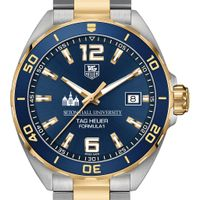 Seton Hall Men's TAG Heuer Two-Tone Formula 1 with Blue Dial & Bezel