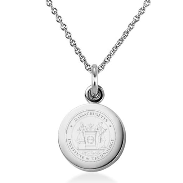 MIT Necklace with Charm in Sterling Silver