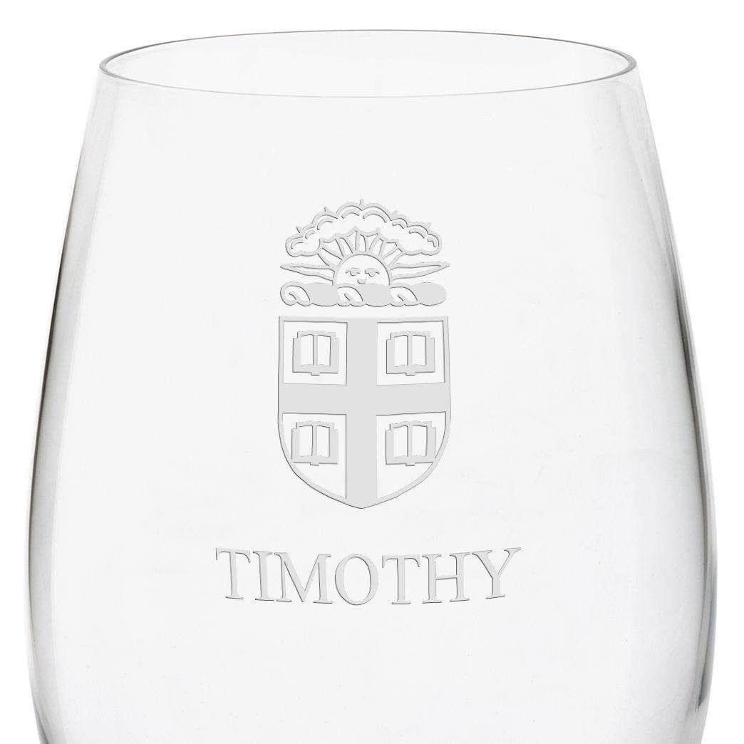 Brown University Red Wine Glasses - Set of 4 - Image 3