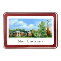 Miami University Eglomise Paperweight