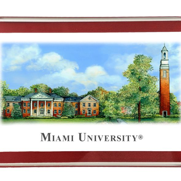 Miami University Eglomise Paperweight - Image 2