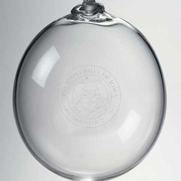 University of Iowa Glass Ornament by Simon Pearce - Image 2