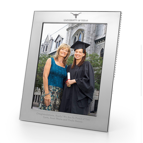 University of Texas Polished Pewter 8x10 Picture Frame