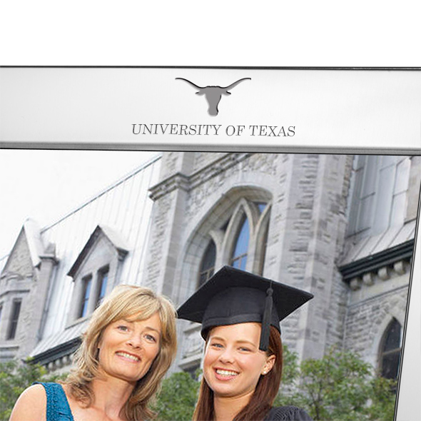 University of Texas Polished Pewter 8x10 Picture Frame - Image 2