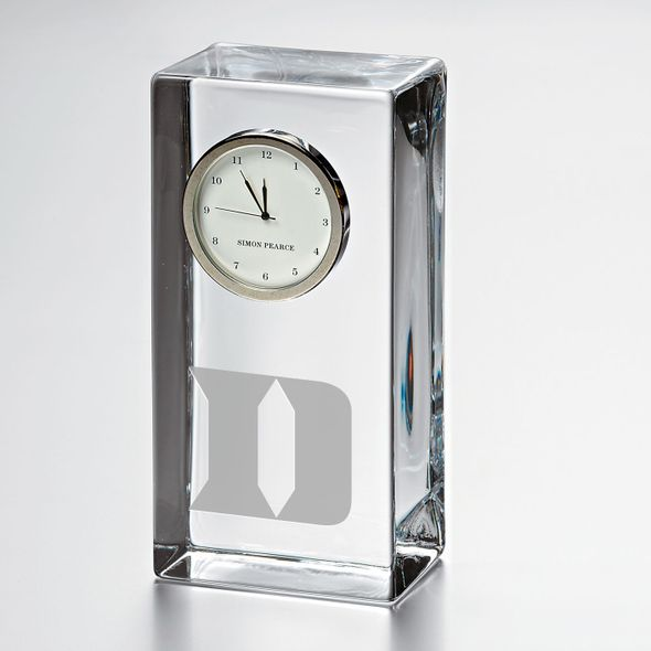 Duke Tall Glass Desk Clock by Simon Pearce