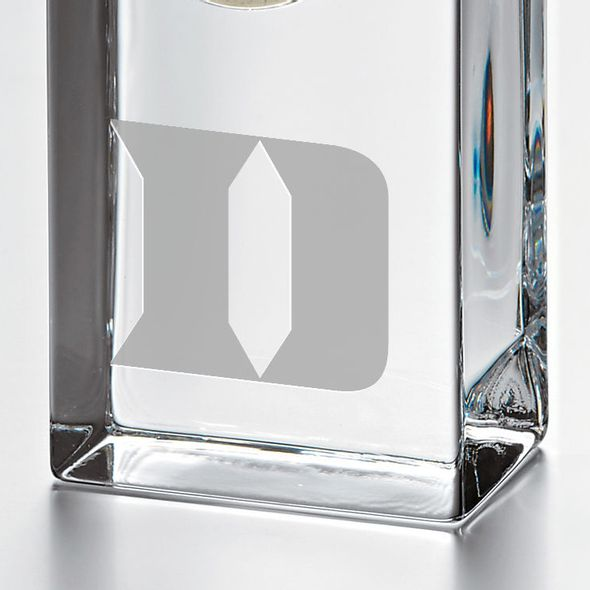 Duke Tall Glass Desk Clock by Simon Pearce - Image 2