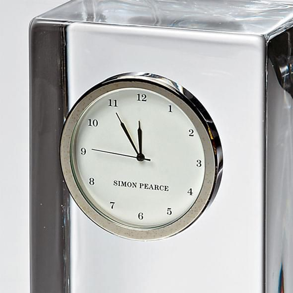 Duke Tall Glass Desk Clock by Simon Pearce - Image 3