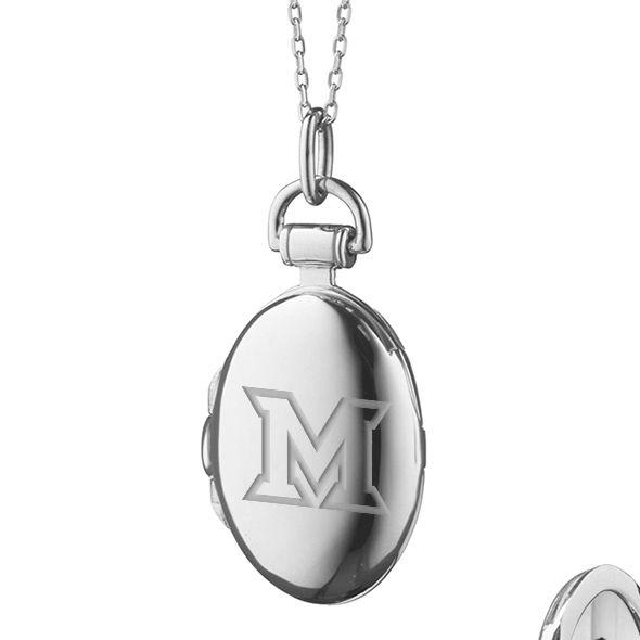 Miami University in Ohio Monica Rich Kosann Petite Locket in Silver - Image 2