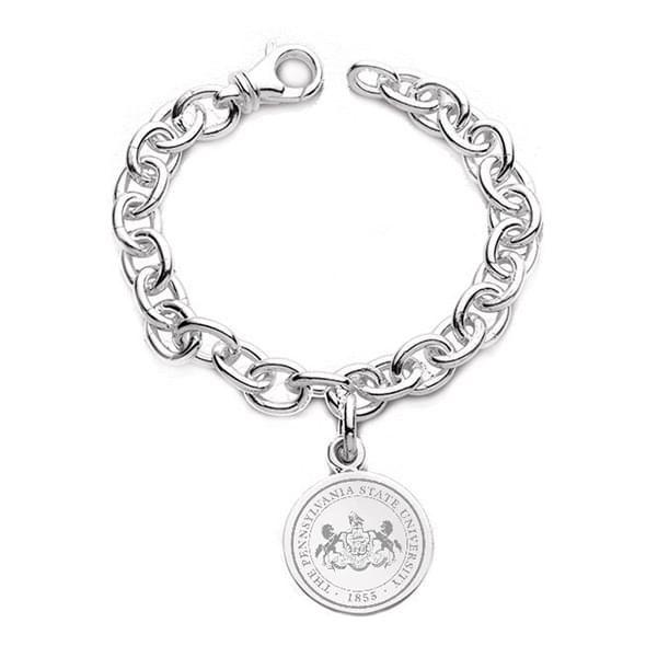 Penn State Sterling Silver Charm Bracelet