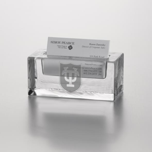 Tulane Glass Business Cardholder by Simon Pearce