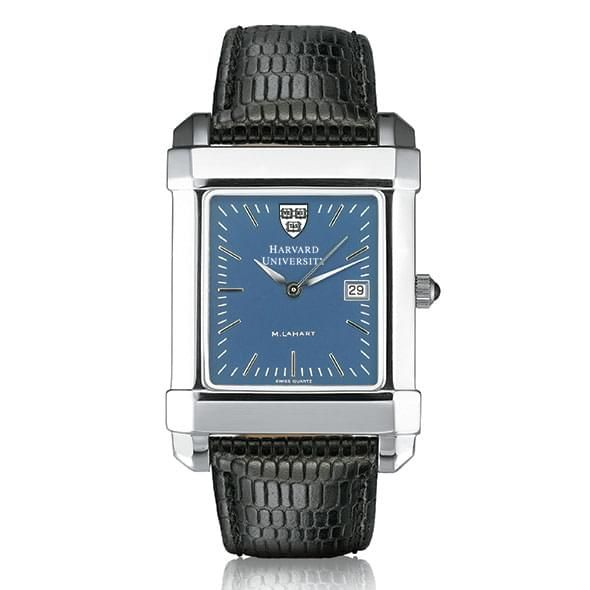 Harvard Men's Blue Quad Watch with Leather Strap - Image 2