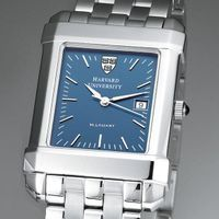 Harvard Men's Blue Quad Watch with Bracelet