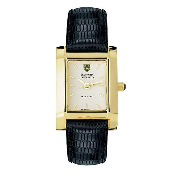 Harvard Women's Gold Quad Watch with Leather Strap - Image 2