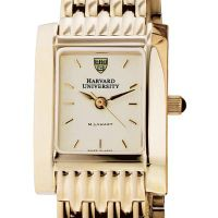 Harvard Women's Gold Quad Watch with Bracelet