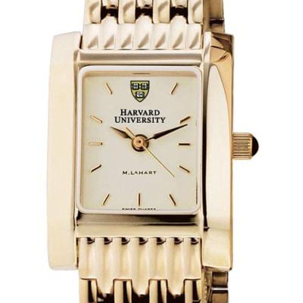 Harvard Women's Gold Quad Watch with Bracelet