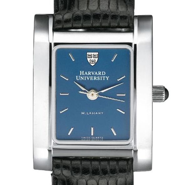 Harvard Women's Blue Quad Watch with Leather Strap