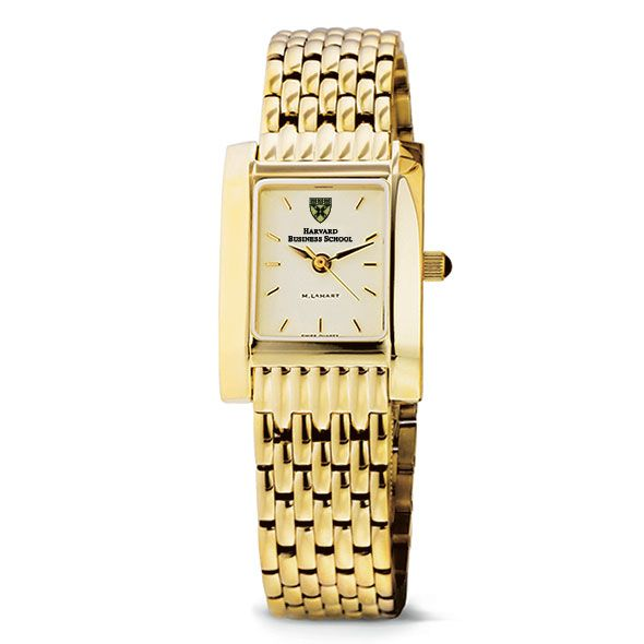 Harvard Business School Women's Gold Quad Watch with Bracelet - Image 2