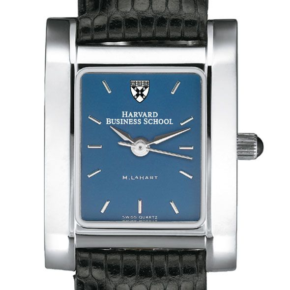 Harvard Business School Women's Blue Quad Watch with Leather Strap