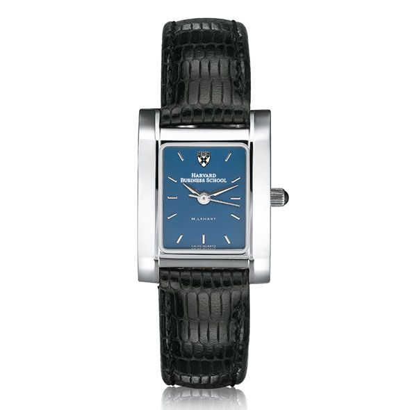 Harvard Business School Women's Blue Quad Watch with Leather Strap - Image 2