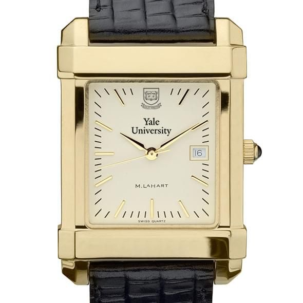 Yale Men's Gold Quad Watch with Leather Strap - Image 1