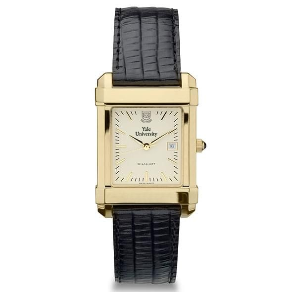 Yale Men's Gold Quad Watch with Leather Strap - Image 2