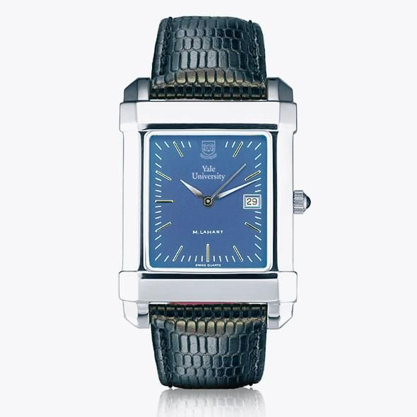 Yale Men's Blue Quad Watch with Leather Strap - Image 2