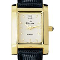 Yale Women's Gold Quad Watch with Leather Strap