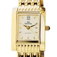 Yale Women's Gold Quad Watch with Bracelet