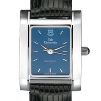 Yale Women's Blue Quad Watch with Leather Strap