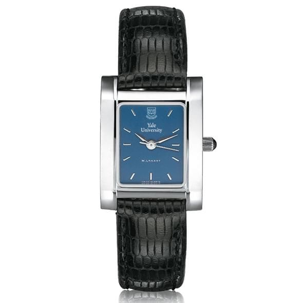 Yale Women's Blue Quad Watch with Leather Strap - Image 2