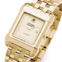Columbia University Men's Gold Quad Watch with Bracelet