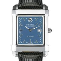 Columbia University Men's Blue Quad Watch with Leather Strap