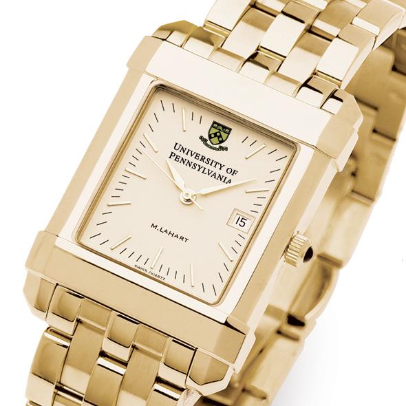 Penn Men's Gold Quad Watch with Bracelet