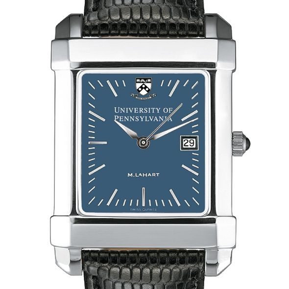 Penn Men's Blue Quad Watch with Leather Strap