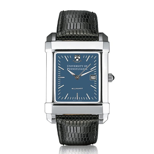 Penn Men's Blue Quad Watch with Leather Strap - Image 2