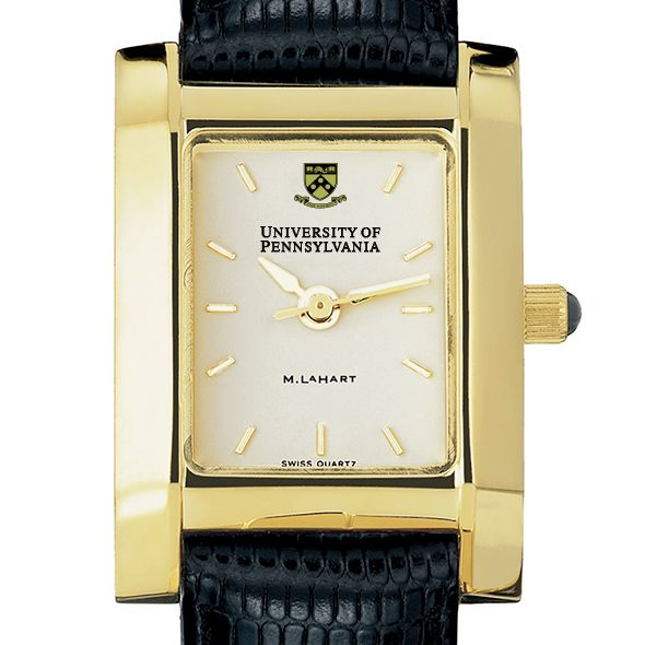 Penn Women's Gold Quad Watch with Leather Strap