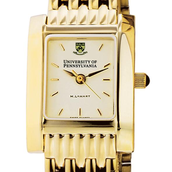 Penn Women's Gold Quad Watch with Bracelet