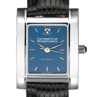 Penn Women's Blue Quad Watch with Leather Strap