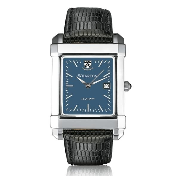 Wharton Men's Blue Quad Watch with Leather Strap - Image 2
