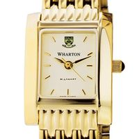 Wharton Women's Gold Quad Watch with Bracelet