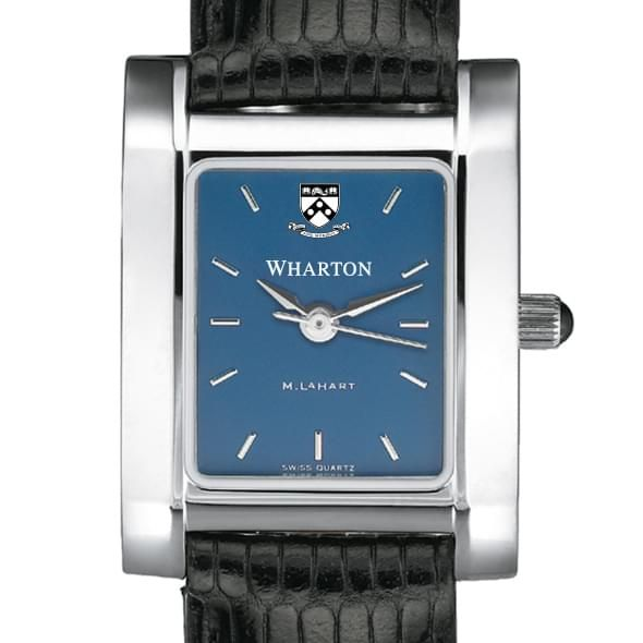 Wharton Women's Blue Quad Watch with Leather Strap