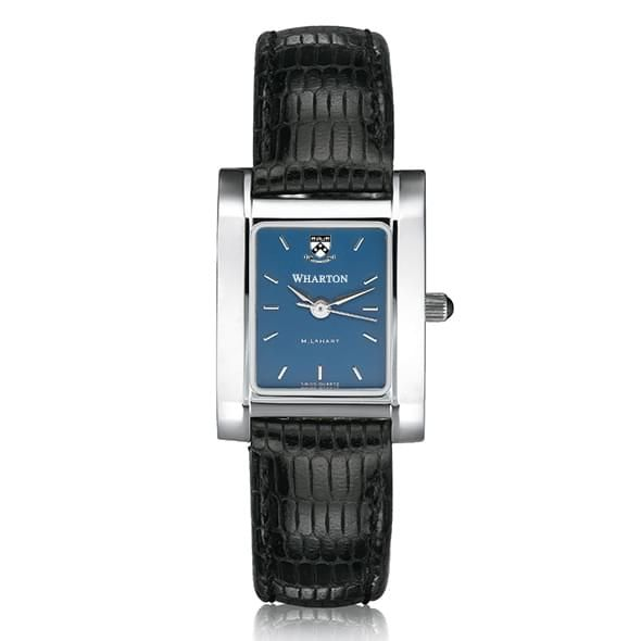 Wharton Women's Blue Quad Watch with Leather Strap - Image 2