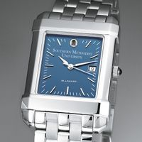 SMU Men's Blue Quad Watch with Bracelet