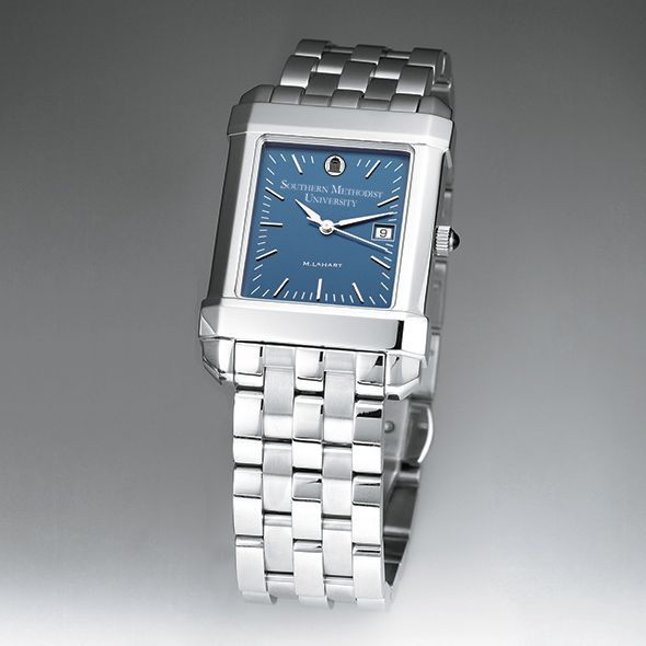 SMU Men's Blue Quad Watch with Bracelet - Image 2