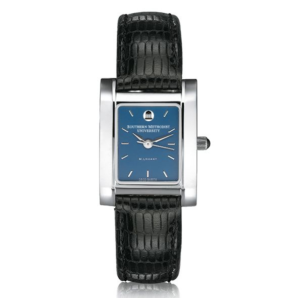SMU Women's Blue Quad Watch with Leather Strap - Image 2
