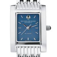 SMU Women's Blue Quad Watch with Bracelet