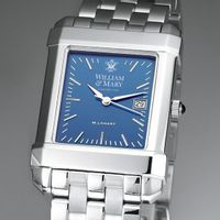William & Mary Men's Blue Quad Watch with Bracelet
