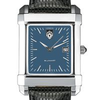 Lehigh Men's Blue Quad Watch with Leather Strap