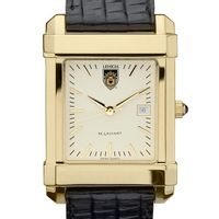 Lehigh Men's Gold Quad Watch with Leather Strap